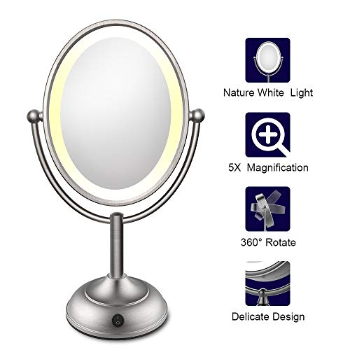 Lighted Makeup Mirror Led Makeup Mirror With Magnification Led