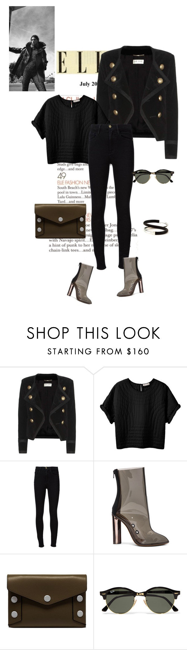 """#lookoftheday"" by ketp on Polyvore featuring мода, Yves Saint Laurent, Étoile Isabel Marant, Frame, adidas, Mulberry, Ray-Ban, FAUX/real, StreetStyle и black"