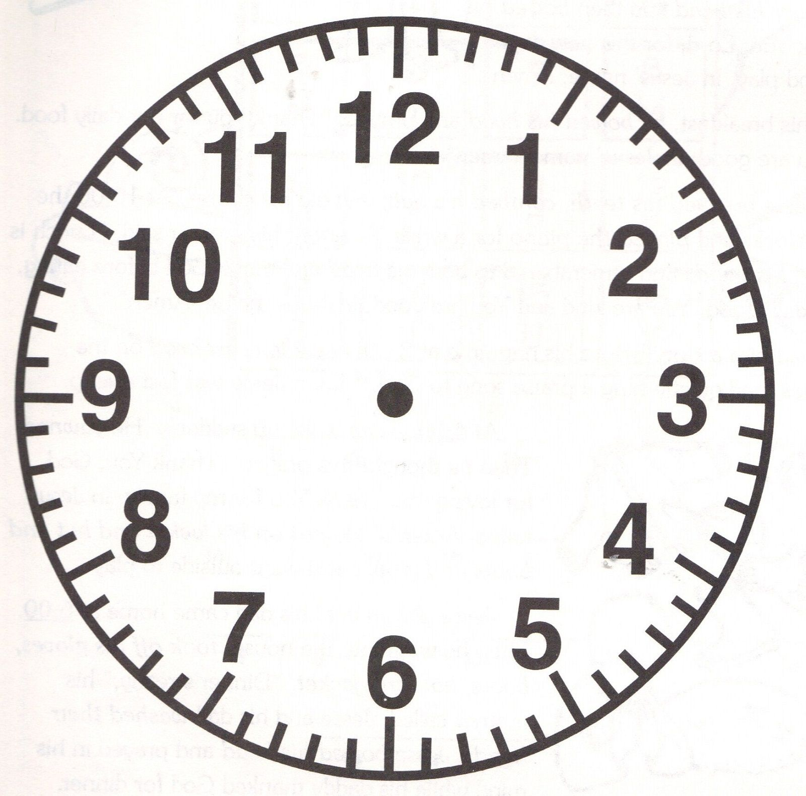 Printable Blank Clock Template Clock Face Printable