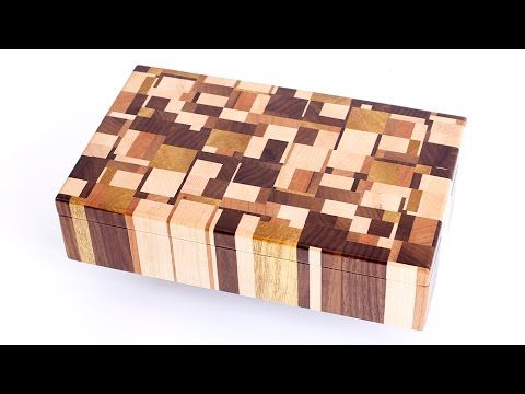 Making Chaotic pattern end grain jewelry boxes YouTube Wooden