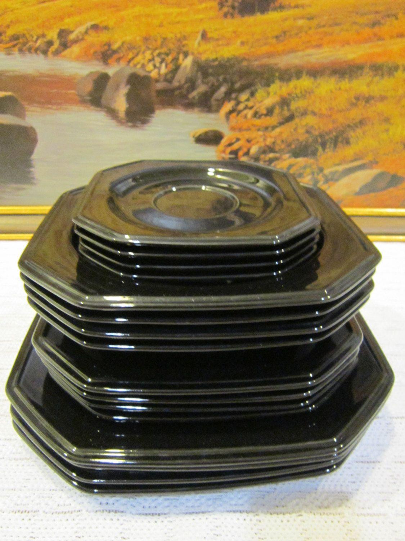 16-Piece Mikasa English Chintz C 6103 Black Tea Dinnerware & 16-Piece Mikasa English Chintz C 6103 Black Tea Dinnerware by ...