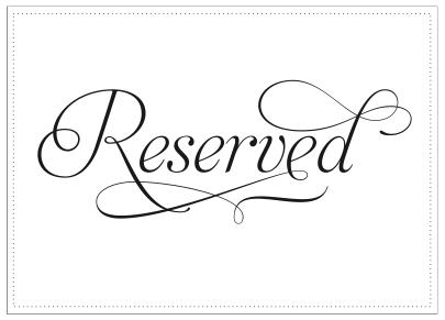 Reserved Reserved Signs Reserved Table Signs Reserved Wedding Signs