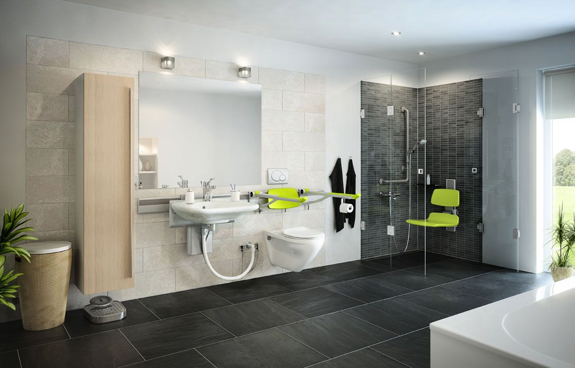 Accessible Bathroom Design. Handicapped Bathroom Designs Accessible ...