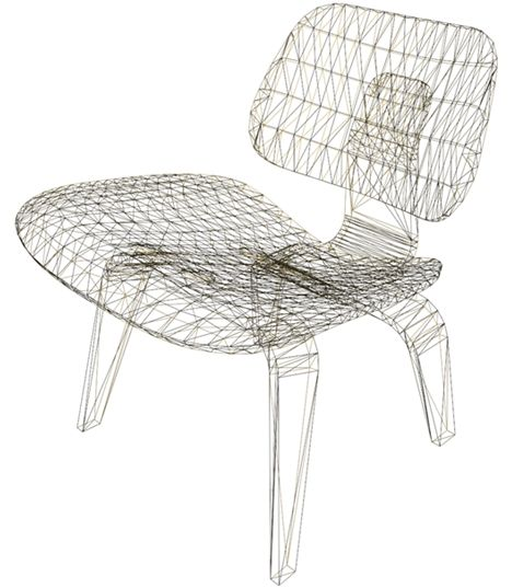 3D wireframe of the Eames chair | mid-century modern ...