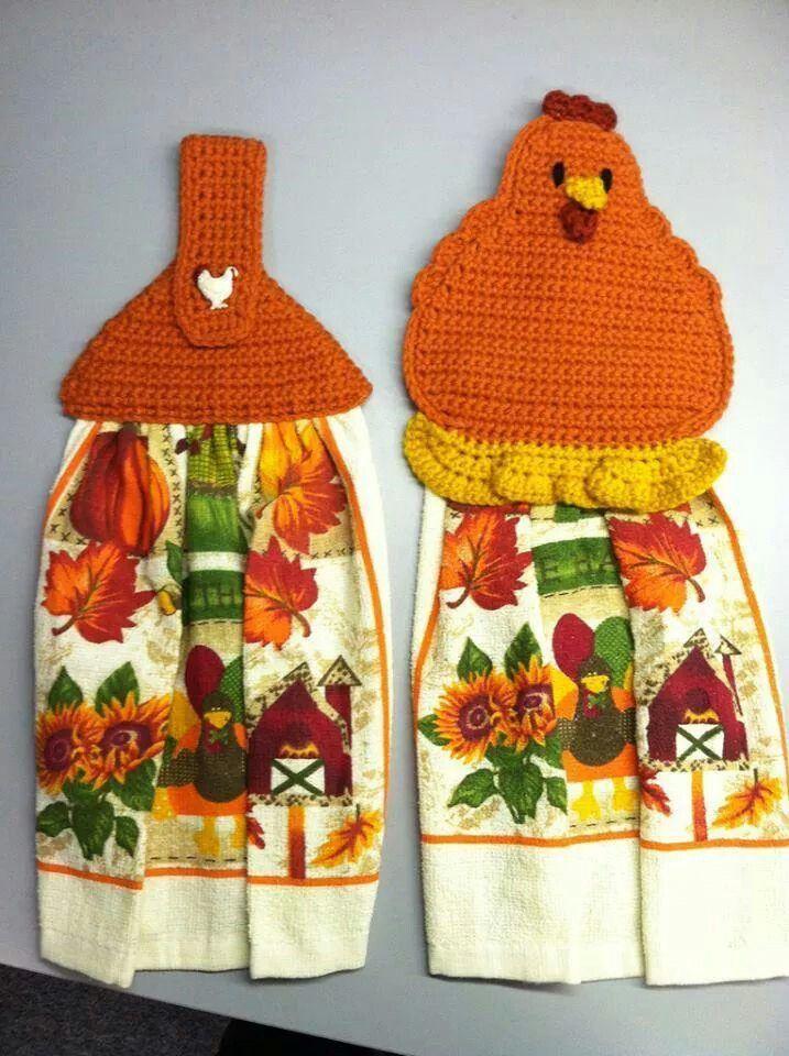 Toallero | Crochet tea towels | Pinterest | Toallero, Tejido y Rosas ...