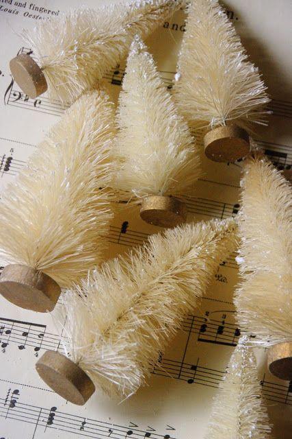 Ideas Ideas Ideas Vintage Christmas Decorations Vintage Christmas Bottle Brush Christmas Trees