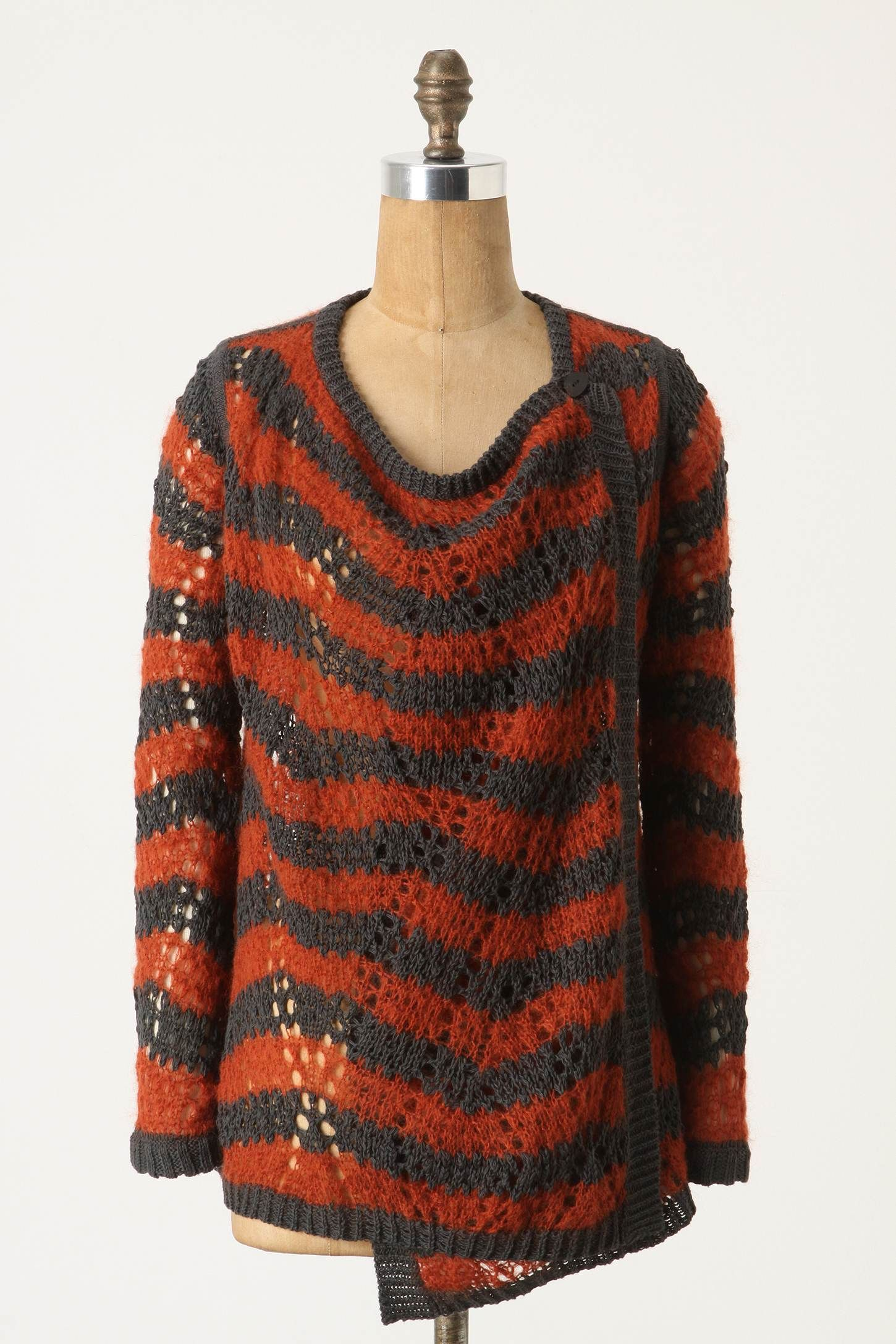 Loose Stripes Cardigan in Grey & Orange | Grey Days | Pinterest ...