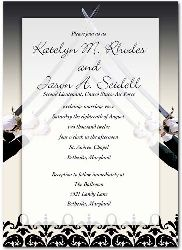 2017 Military Wedding Invitation Arch Of Sabers Card