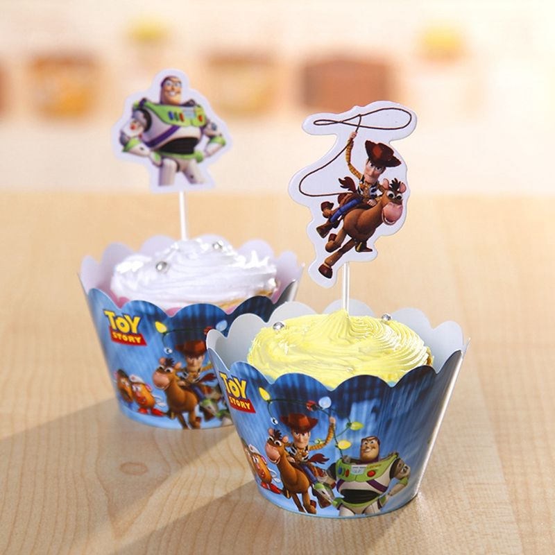Woody Toy Story Buzz Lightyear emballage de Petit Gâteau Toppers ...