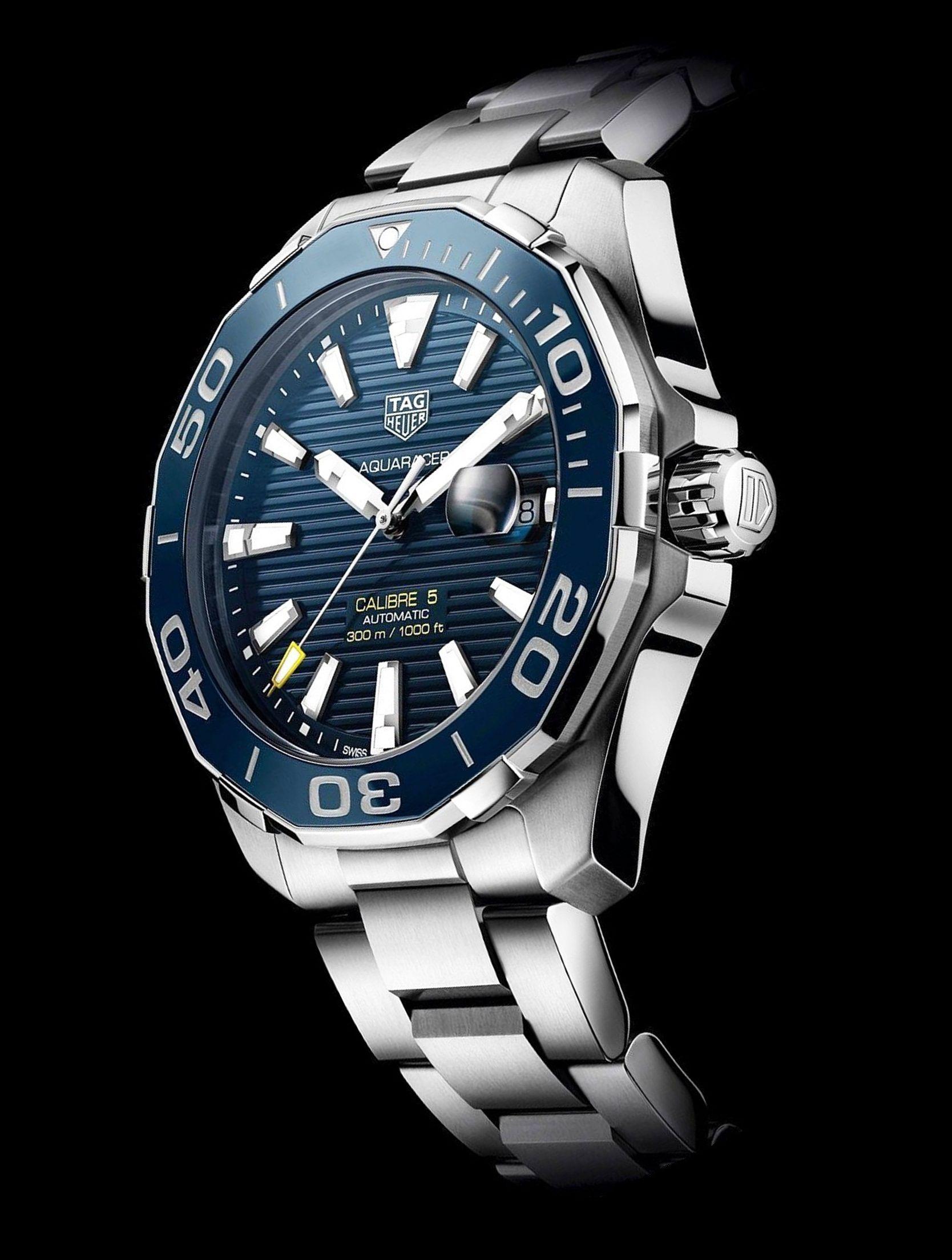 TAG Heuer Aquaracer 300M Calibre 5 43 mm – Azul Reloj Tag ...