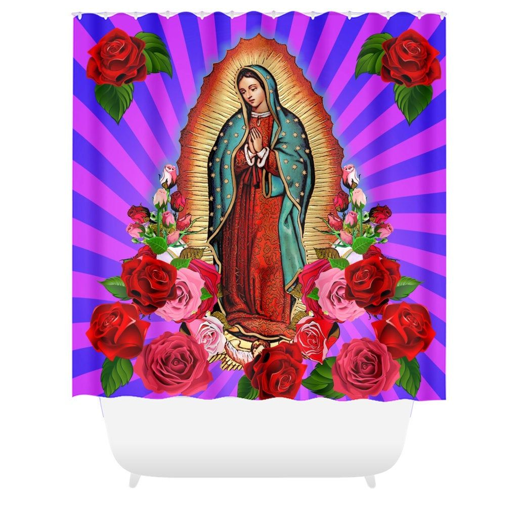 Virgin Mary Lady Of Guadalupe Shower Curtain