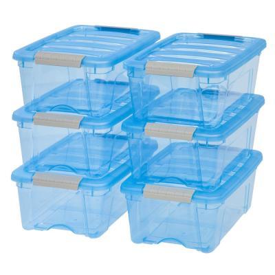 Sterilite 16 Qt Storage Box 16441012 The Home Depot In 2020 Plastic Storage Bins Plastic Storage Storage Tubs