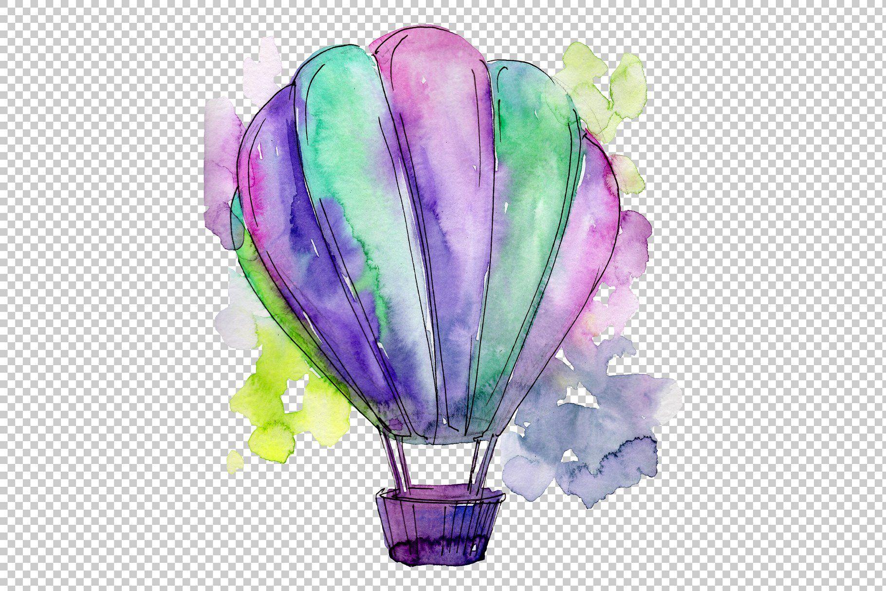 Colorful Hot Air Balloon Png Set Balloons Air Balloon Hot Air Balloon