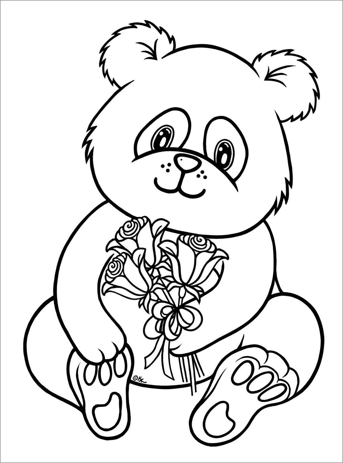 Cute Panda Coloring Pages Cute Baby Panda Coloring Pages To Print Coloringbay Bear Coloring Pages Unicorn Coloring Pages Panda Coloring Pages