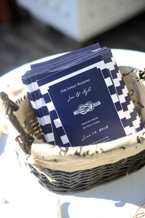 nautical wedding programs. photo by henryphotography.com