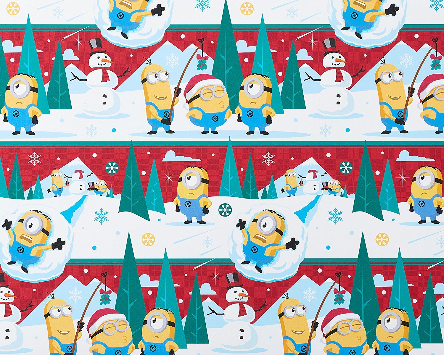 Amazon.com: American Greetings Minions Christmas Wrapping Paper, 2 ...