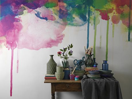 Watercolor Drippy Walls Spray Paint Splatter Paint