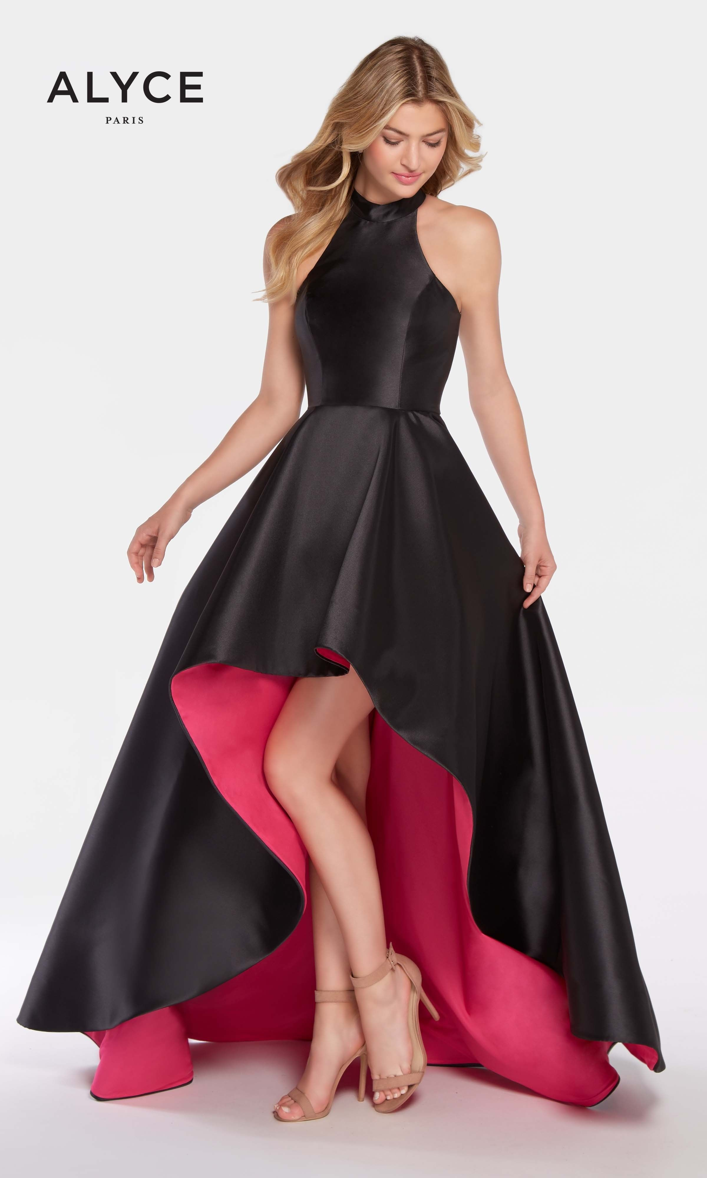 Black Hi-Low Dress