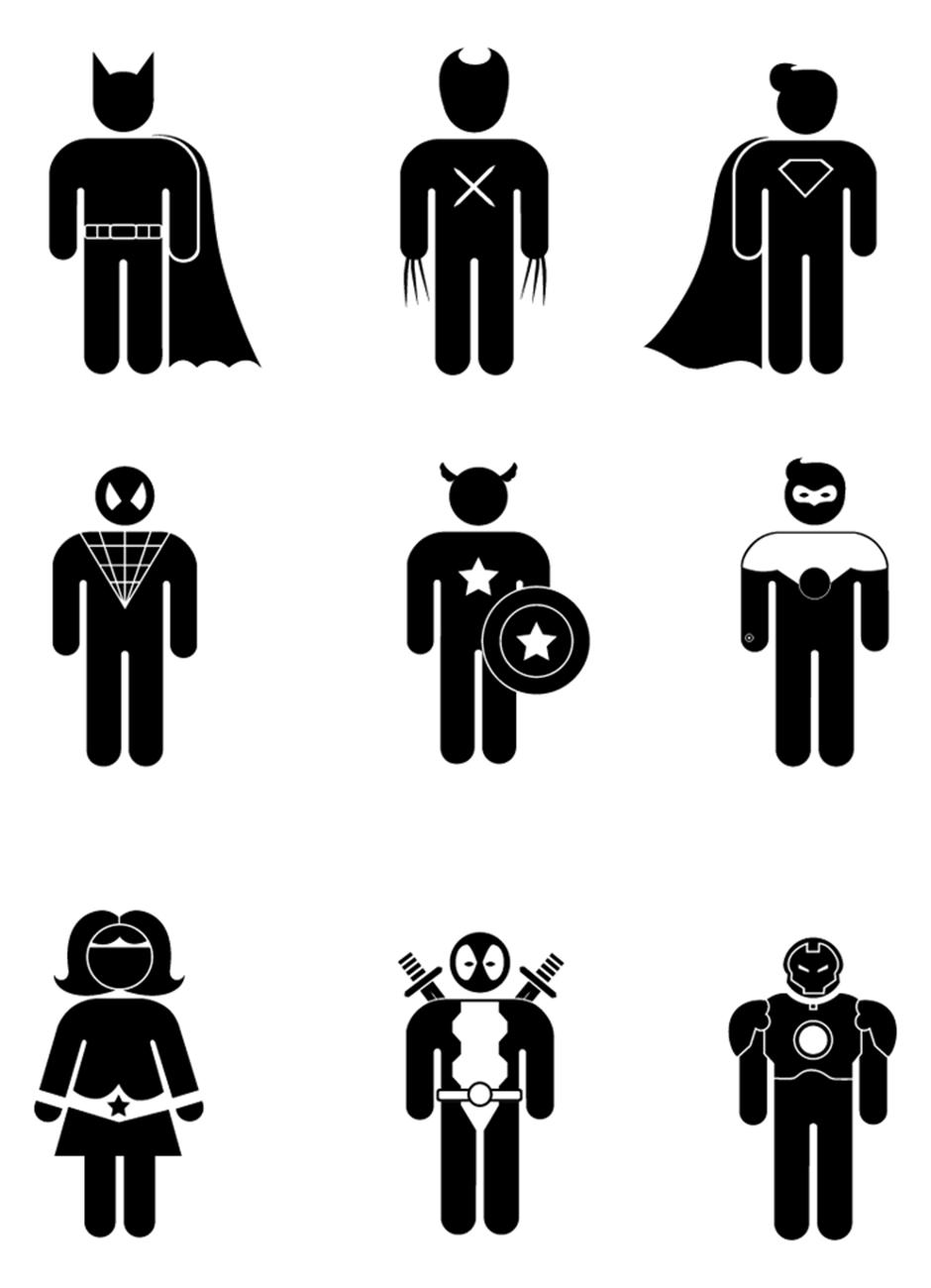 Michelle Samuels Portfolio Superhero symbols