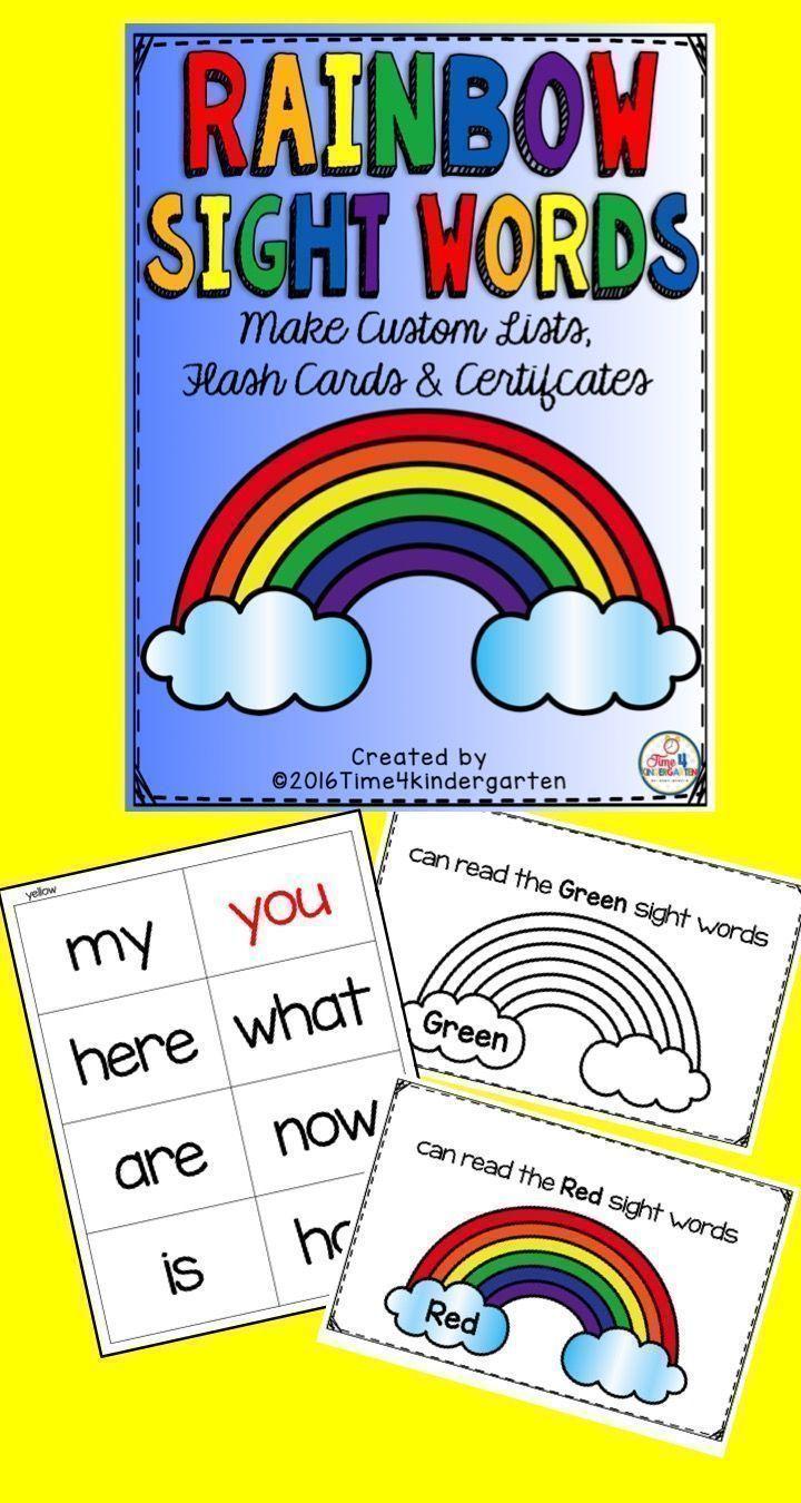 Rainbow Sight Words Editable | Word program, Graduate degree and ...