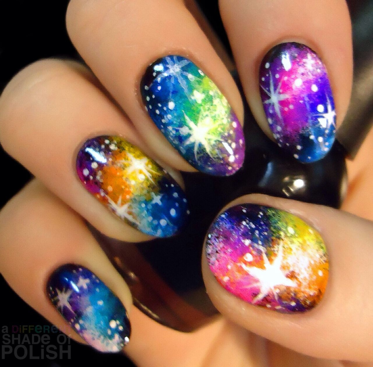 Gelaxy Gel Nail Polish: Repost Of Galaxy Nails I Did Last Year. I'll Be Posting A