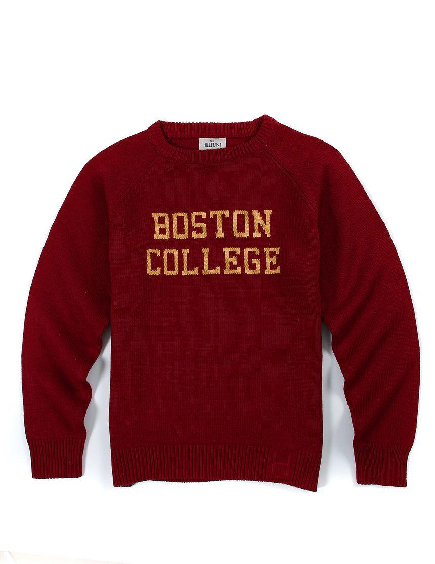 Cotton Boston College Crewneck School Sweater School Sweater College Sweater Sweaters [ 1116 x 860 Pixel ]