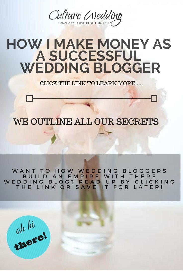 How I Make Money As A Successful Wedding Blogger