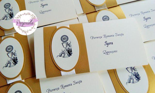 pasjonata.zaproszenia: # 68 Zaproszenia na komunię Igora