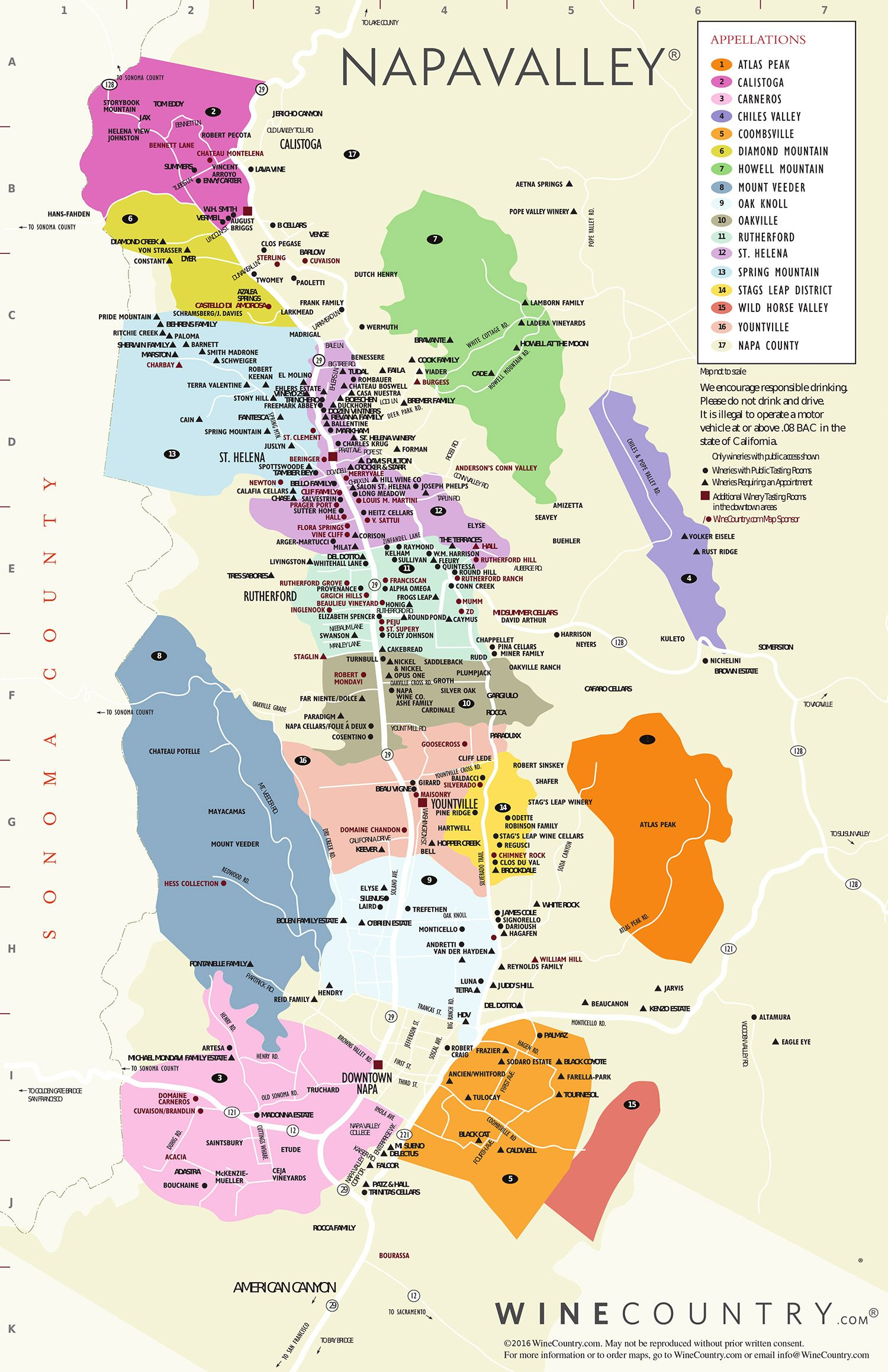 View larger map  To learn more about the NapaValley Wine
