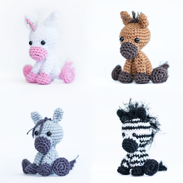 Häkelanleitung Pferd Einhorn Esel Zebra Amigurumi And Crochet
