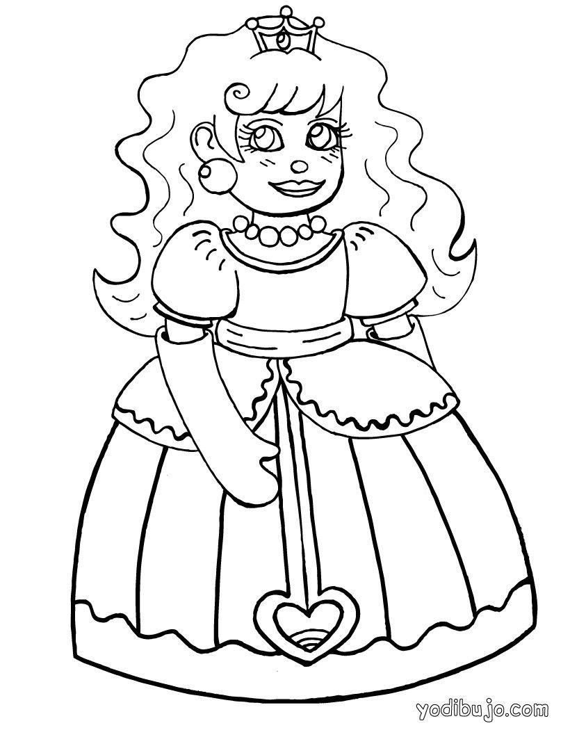 Dibujos de PRINCESAS para colorear, Princesa Menina para imprimir ...