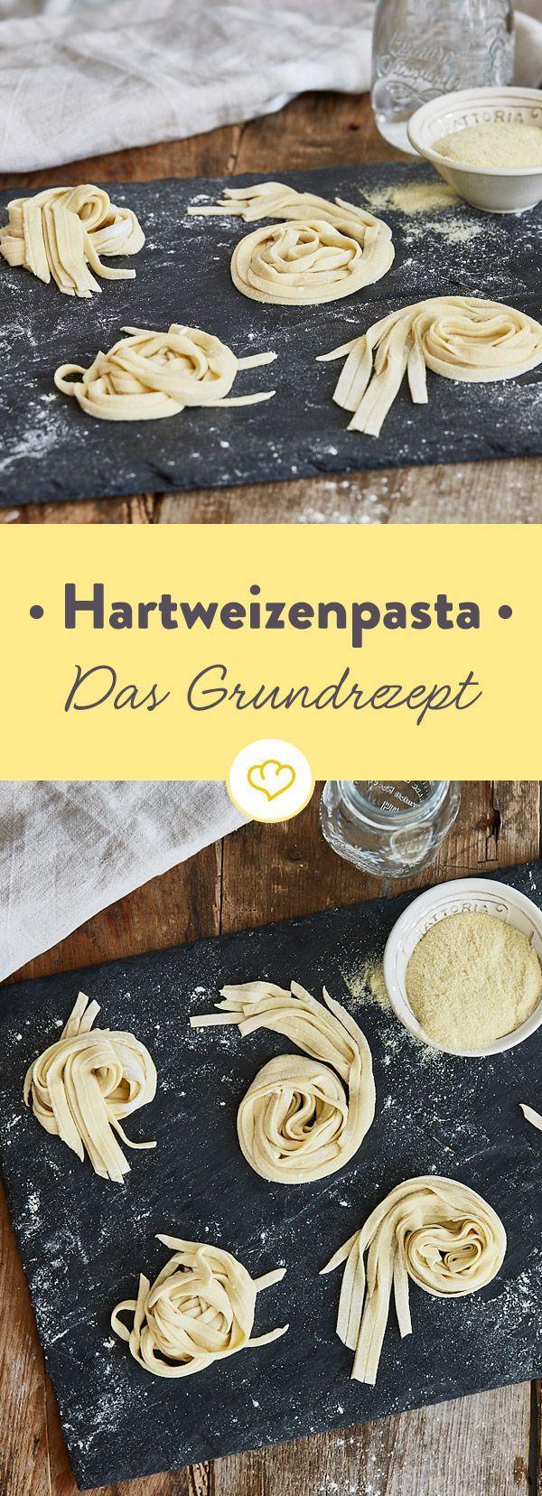 Grundrezept für frische Pasta mit Hartweizen