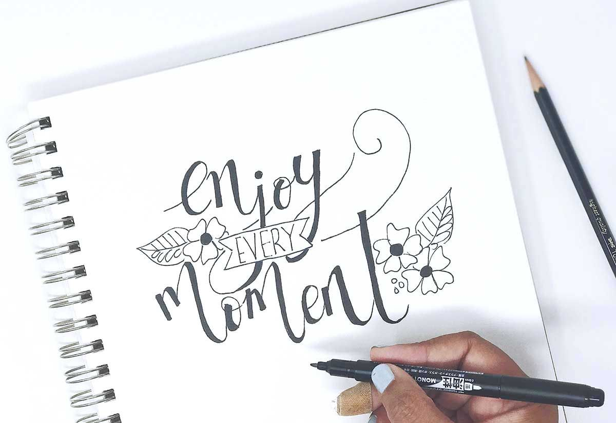 Using your pencil for Faux Calligraphy (With images