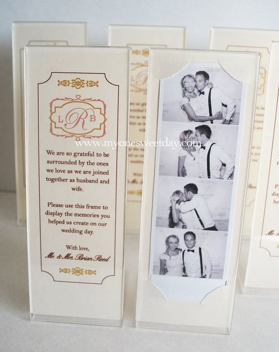 Photo Booth 2x6 Acrylic Frames and Escort Cards A by MySweetDay Love ...