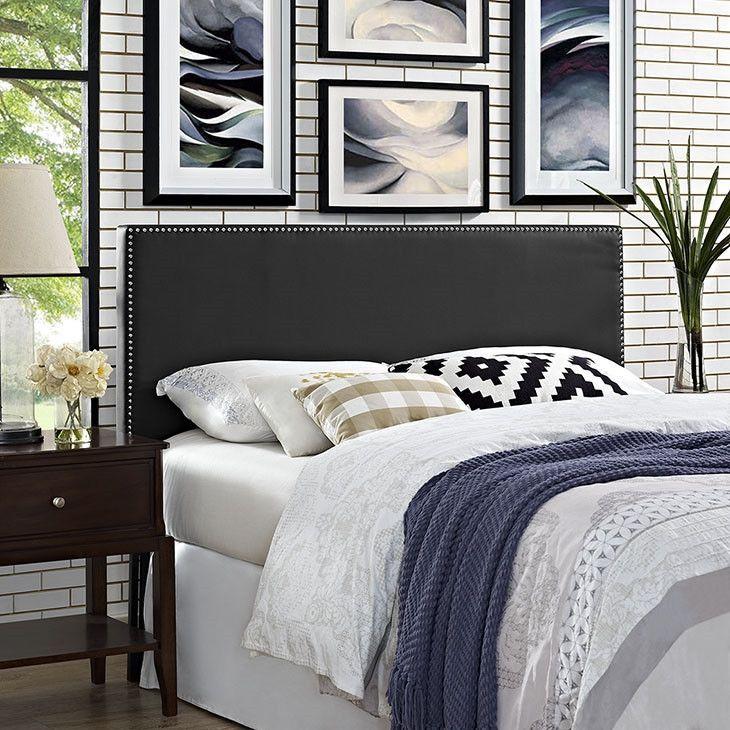 Modern Upholstered Padded Fabric,Vinyl Large Silver