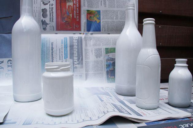 Fabulous Zelf flessen verven | Woon ideeën - Flessen schilderen, Flessen AR75