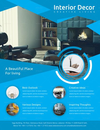 Remarkable Interior Decor Flyer Template Interior Decorating