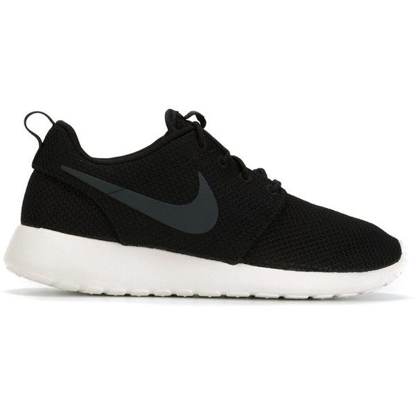 Nike Roshe One Sneakers found on Polyvore featuring shoes, sneakers, black, kohl  shoes