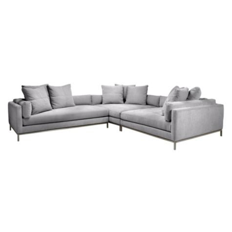 Ventura Sectional 3 Pc Deep Sofa Living Room