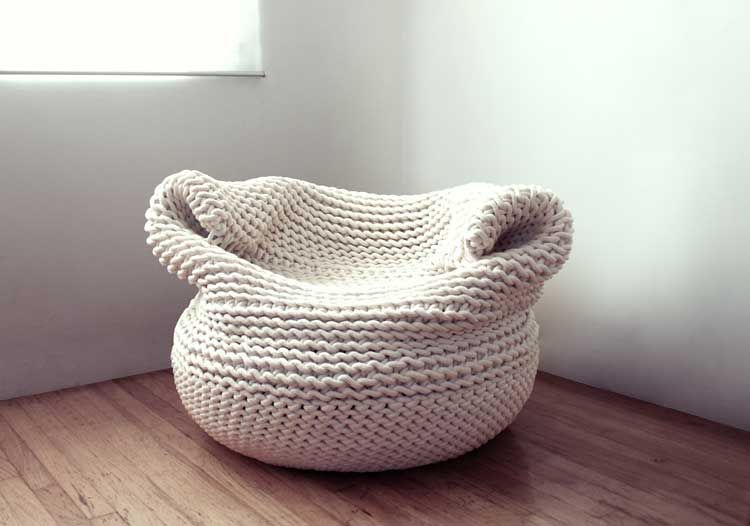 knitted bean bag