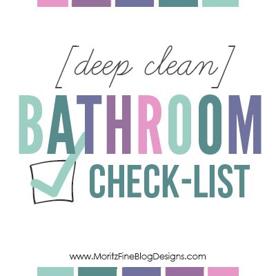 Best Deep Clean The Bathroom Checklist With Images Deep 400 x 300