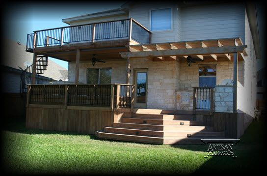 Deck With Arbor ~ The Concept Weu0027re Going For. Story Patio With Arbor  Trellising On Either Side