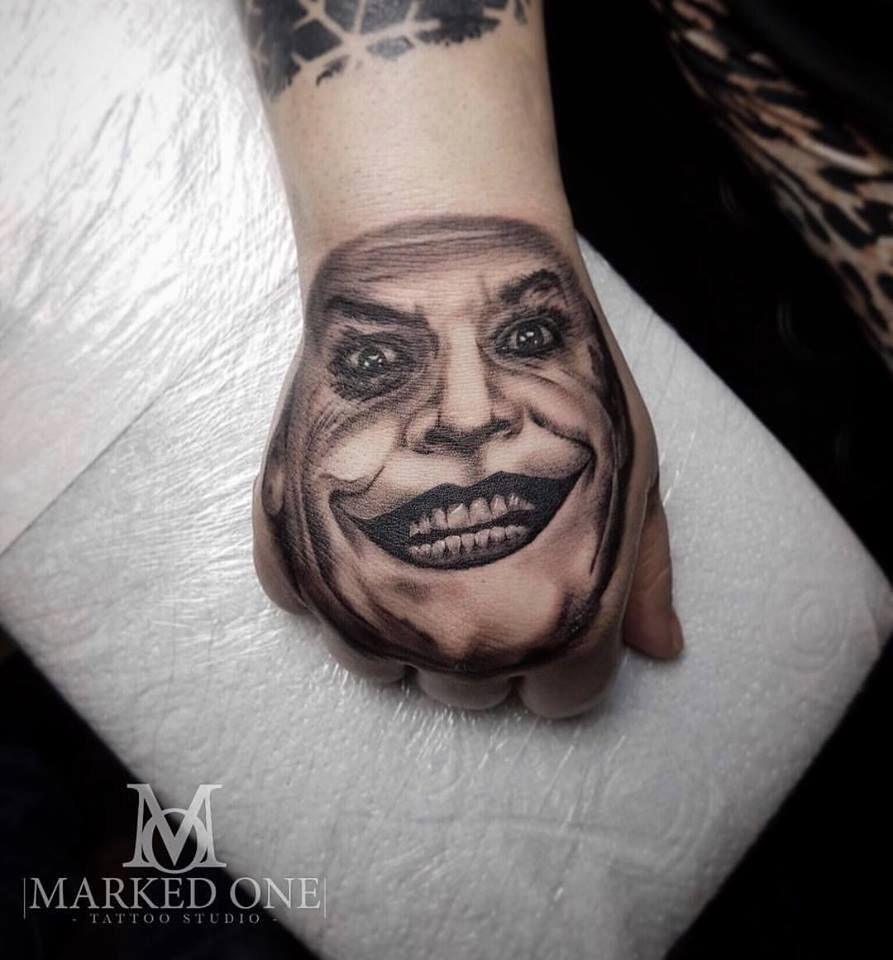 Joker Tatto Hand: Hand Tattoo. The Joker Tattoo By Gav Guest.