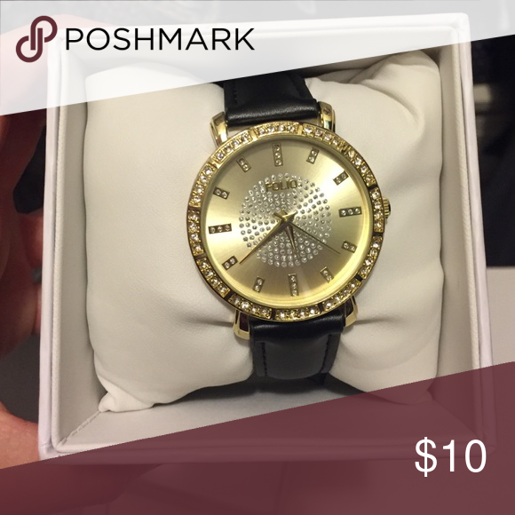 Folio black and gold watch Folio black and gold watch folio Accessories Watches