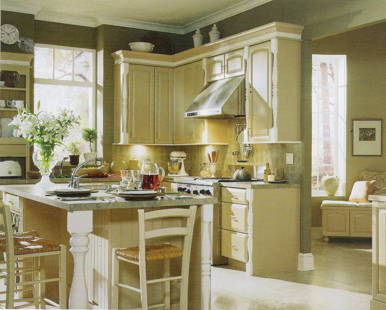 Brown Painted Kitchen Cabinets | Light Brown Painted Kitchen Cabinets Yvvdvdw