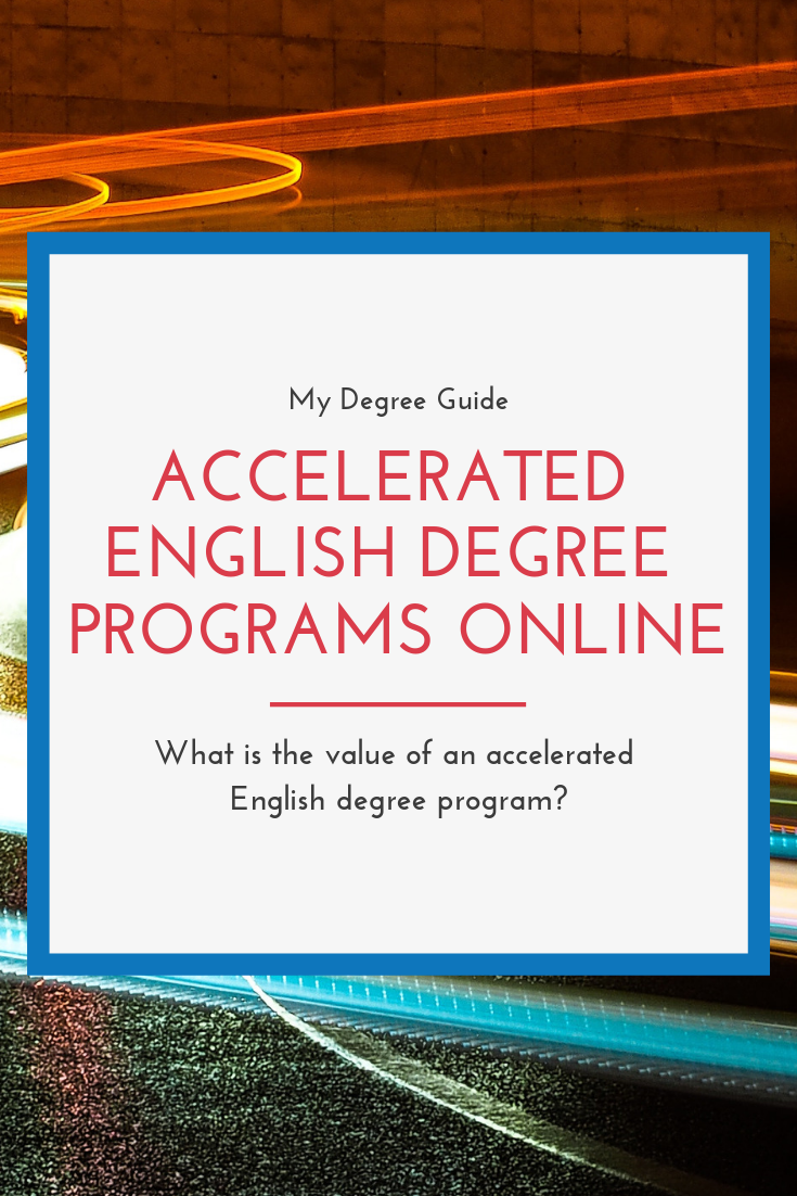Accelerated English Degree Programs Online College English Degree Online Education Importance Of Time Management