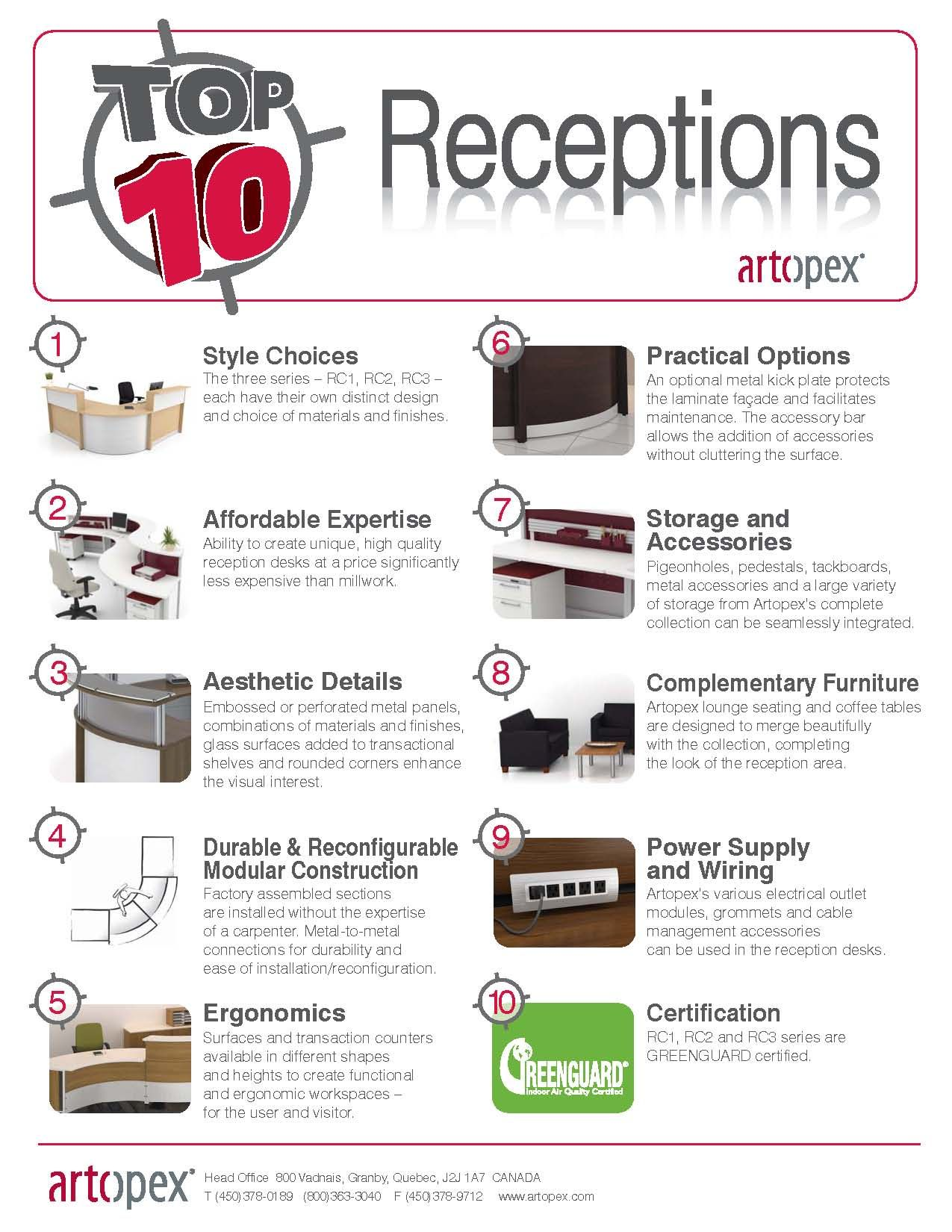 top 10 office furniture manufacturers. Top 10 Reasons To Choose Reception Stations By Artopex. Office Furniture ManufacturersInnovative Manufacturers