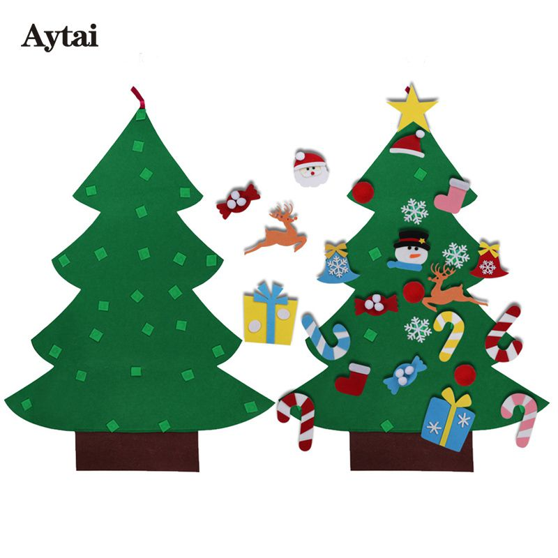 US $1386 Aytai Año Nuevo DIY Sentía Árbol De Navidad para el Regalo