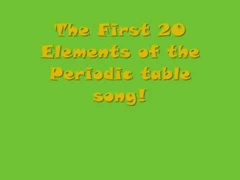 Periodic table song first 20 elements thing to try pinterest periodic table song first 20 elements urtaz Image collections