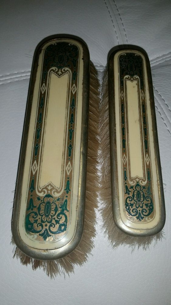 antique brush set Vintage Dresser/Vanity sets Pinterest